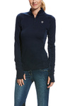Ariat Womens Lowell 2.0 1/4 Zip Top Navy