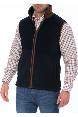 Alan Paine Mens Aylsham Fleece Gilet Dark Navy