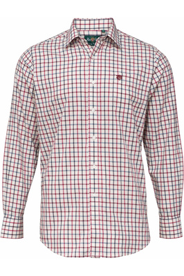 Alan Paine Mens Ilkley Country Check Shirt Red