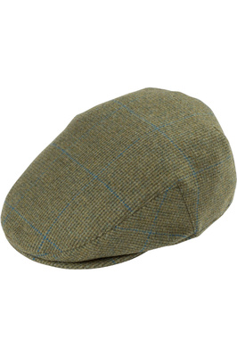 Alan Paine Mens Combrooke Tweed Flat Cap Lagoon
