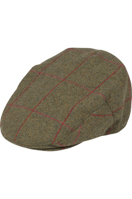 Alan Paine Mens Combrooke Tweed Flat Cap Sage