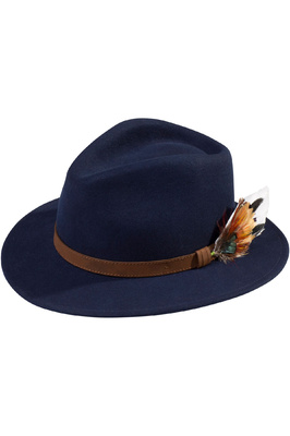 Alan Paine Richmond Felt Hat Navy