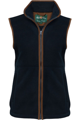Alan Paine Womens Aylsham Fleece Gilet Dark Navy
