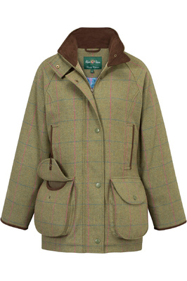 Alan Paine Womens Combrook Tweed Jacket Juniper
