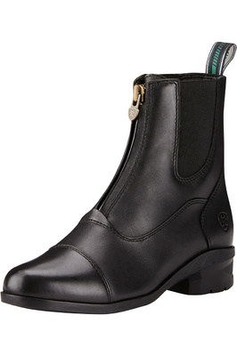 Ariat Womens Heritage IV Zip Short Boots Black