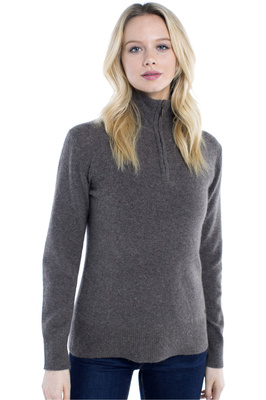 Dubarry Womens Coleraine Half Zip Sweater Elk