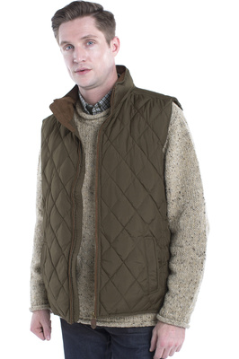 Dubarry Mens Davis Quilted Gilet Olive