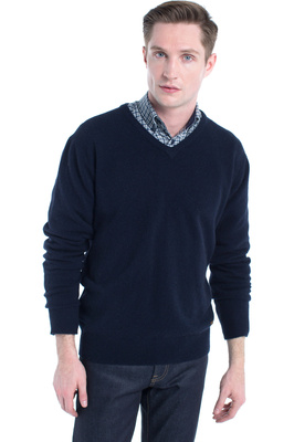 Dubarry Mens Kilduff V-Neck Sweater Navy