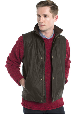 Dubarry Mens Mayfly Gilet Olive