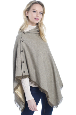 Capes and Wraps - Clothing - Womens - Dubarry Womens Hazelwood Tweed