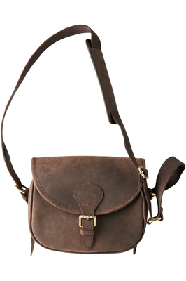 Harkila Leather Cartridge Bag Shadow Brown