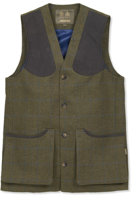 Musto Mens Lightweight Machine Washable Tweed Waistcoat Cairngorm