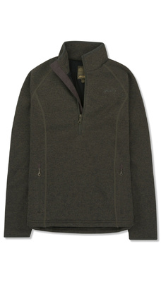 Musto Womens Super Warm Polartec Windjammer Half Zip Fleece Jacket Forest Green
