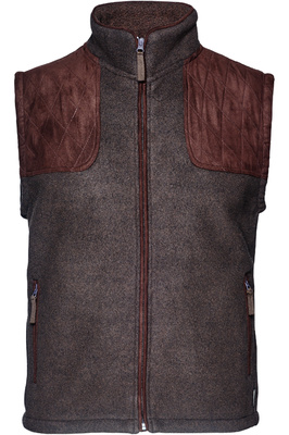Seeland Mens William II Fleece Gilet Moose Brown
