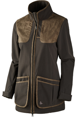 Seeland Womens Winster Sofshell Jacket Black Coffee